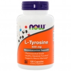 NOW L-Tyrosine 500 mg 120 капс