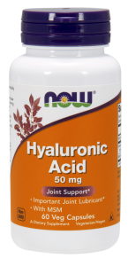 Now Hyaluronic Acid 50 mg + MSM 60 капс.